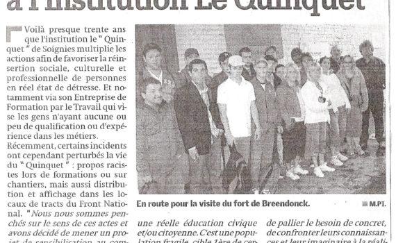 Le Quinquet asbl Nouvelle Gazette juin 2008