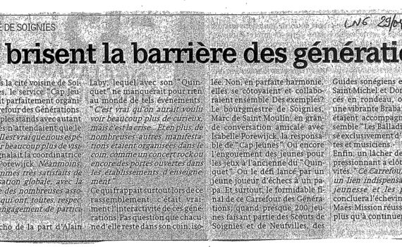 Le quinquet, article de la nouvelle gazette 29 avril 2010
