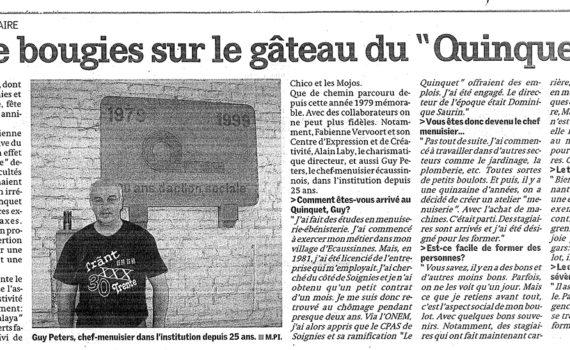 """La Nouvelle Gazette """"Trente bougies pour le Quinquet"""""""