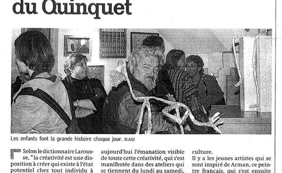 Le Quinquet asbl Nouvelle Gazette octobre 2002