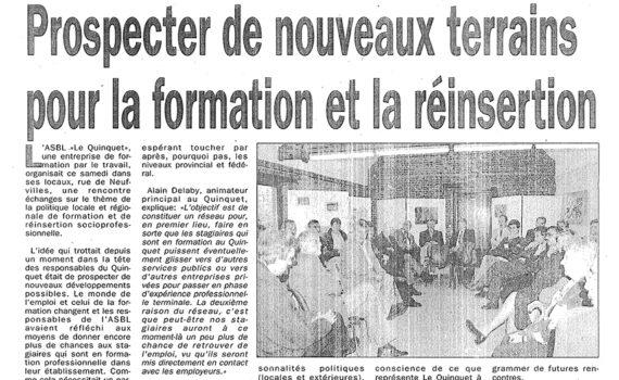 Le Quinquet asbl Nouvelle Gazette 2001