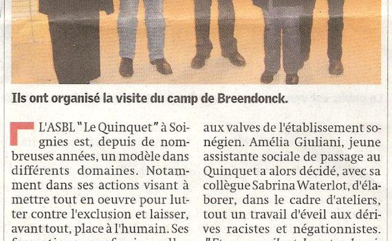 Le Quinquet asbl Nouvelle Gazette, octobre 2008