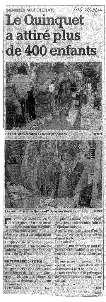 Août en Eclats 2009 - Le Quinquet asbl