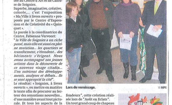 Quinquet La Nouvelle Gazette, 29/11/2006