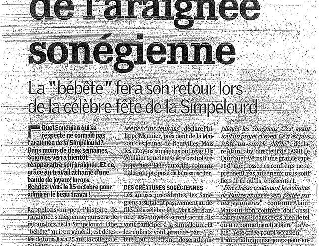 Le Quinquet asbl Nouvelle Gazette octobre 2011