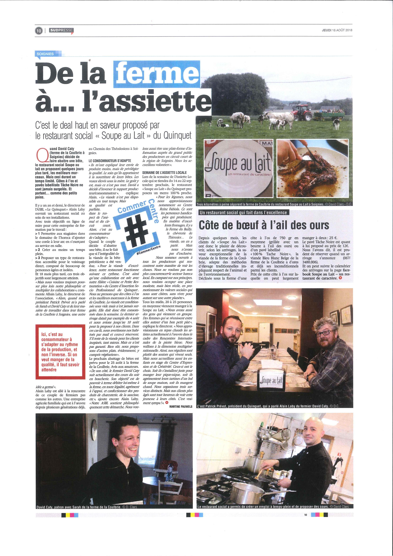 Presse Sudpresse Soupe au Lait
